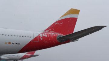 iberia hielo avion nevada