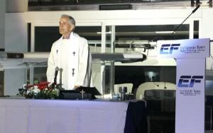 El acto se inició con una misa en honor a la Pratrona de la Aviación.