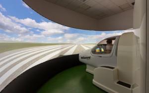 El nuevo simulador reproduce fielmente el comportamiento de los bimotores de la escuela.