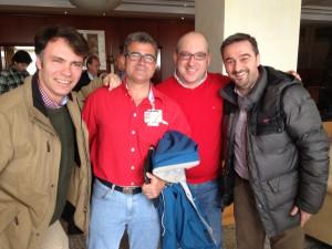 Cuatro jefes de la Vocalía: Álvaro Gammicchia, Gonzalo Martínez de Abellanosa, Ariel Shocrón y Juan Carlos Lozano