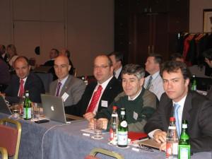 En ECA, febrero 2010 Francisco Hoyas, Alberto Morán, Ariel Shocrón, Jaume Bosch y Álvaro Gammicchia.