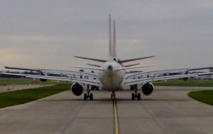 Caravana de aviones