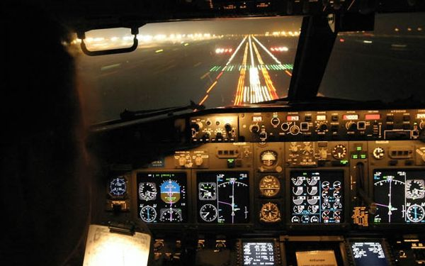 Cockpit nocturno