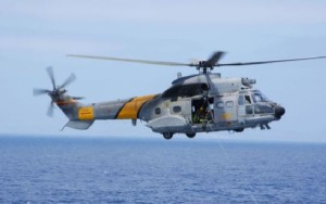 """El """"Super Puma"""" es utilizado habitualmente por el SAR."""