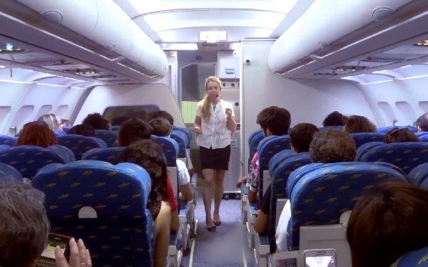 Las informaciones se facilitaron a bordo de una réplica de A320.