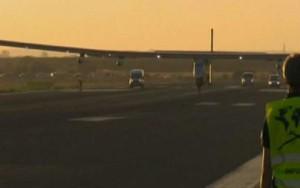 El avión solar llegó a primeras horas de la mañana a San Pablo.
