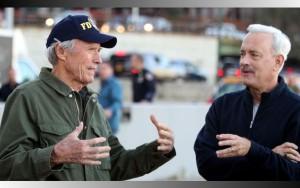 Eastwood y Hanks en un momento del rodaje.