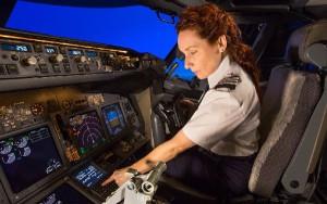 La mujer está poco representada en el sector aeronáutico.