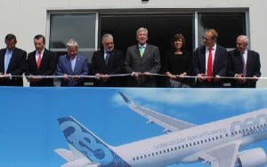 Autoridades mexicanas y representantes de Airbus fueron los encargados de inaugurar el nuevo centro formativo.