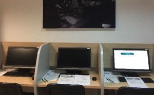 La nueva aula de European Flyers cuenta con todos los medios para realizar exámenes on line.