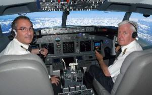 El simulador B737 NG permite realizar vuelos virtuales en un entorno realista.