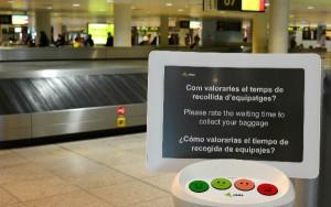 Los dispositivos están situados estratégicamente en los aeropuertos.