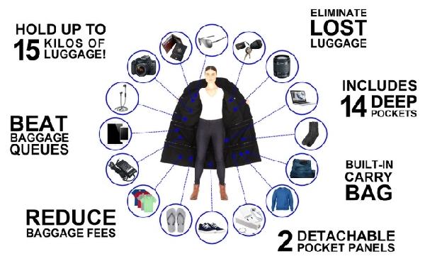 La chaqueta es un auténtico cajon de sastre.