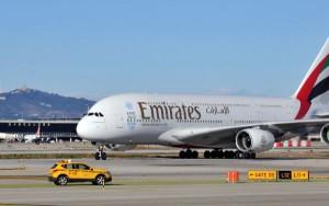 Emirates llevó el A380 a El Prat por primera vez en febrero de 2013.
