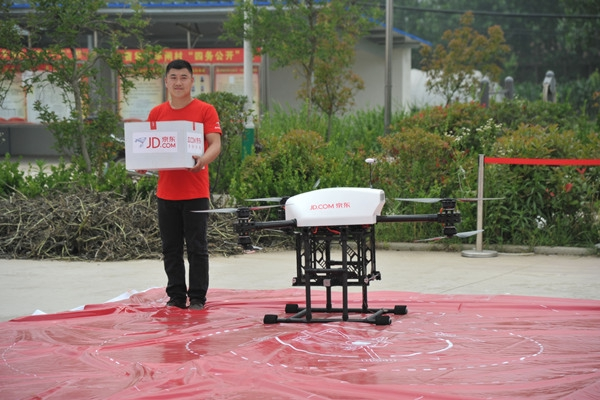 JD.com afirma que sus drones podrán llegar a transportar 500 kg. de paquetes.
