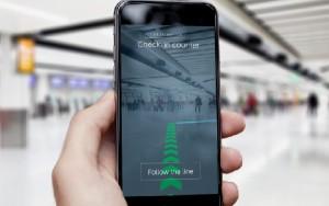 La aplicación permite visualizar claramente el camino más directo.