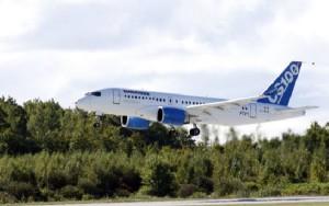 Los aviones de la CSeries de Bombardier, en el centro de la disputa.