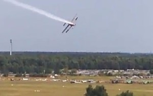 El accidente se produjo en una maniobra a baja altitud.