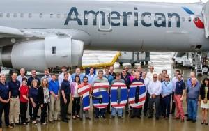 American Airlines celebra los 1500 Airbus en la factoria de Alabama.