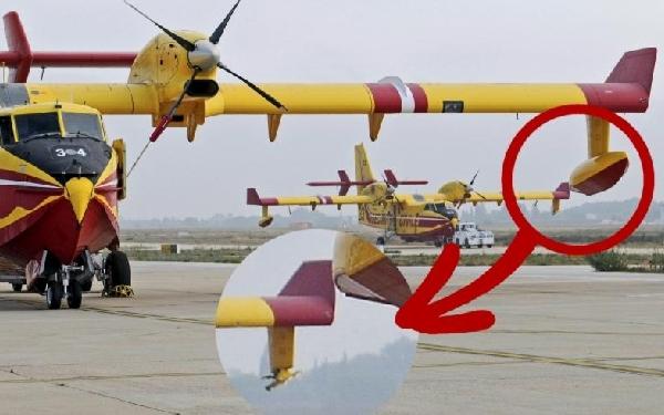 En la foto tras el impacto se aprecia la falta del flotador izquierdo.