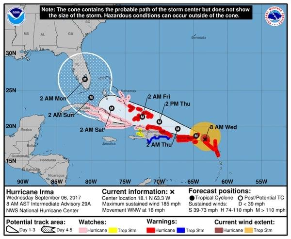 La trayectoria del huracán ha devastado la región.