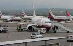 Aviones de Air Berlin en PMI.