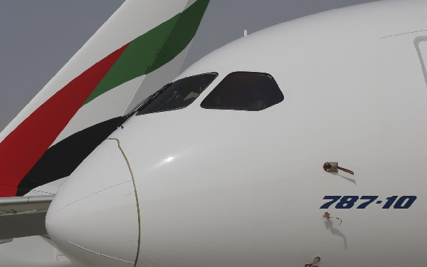 "El ""Dreamliner"" viene a reforzar la flota de B777 de Emirates."