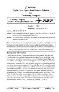 b-737 max boletin boeing pistas