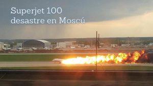 superjet aeroflot en llamas