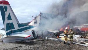 Antonov An-24 mueren dos tripulantes