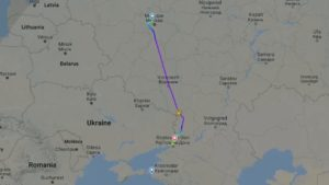 Aeroflot diversion rostoc