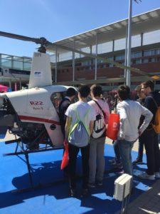 European flyers helicoptero y dron en aula ifema
