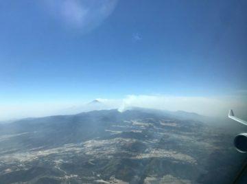 Nubes de cenizas volcánicas Popocatépetl