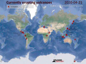 volcano discovery Nubes de cenizas volcánicas