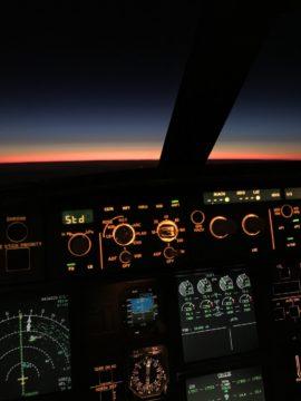 a340 cockpit cuatro motores cuatrimotor