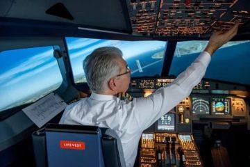cabina single-pilot un piloto