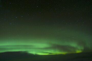 aurora boreal desde el avión