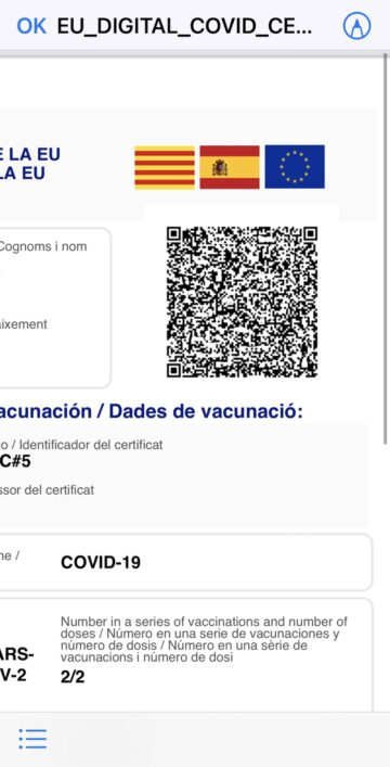 certificado EU Covid UE
