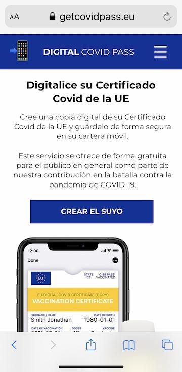 difitalizar certificado covid