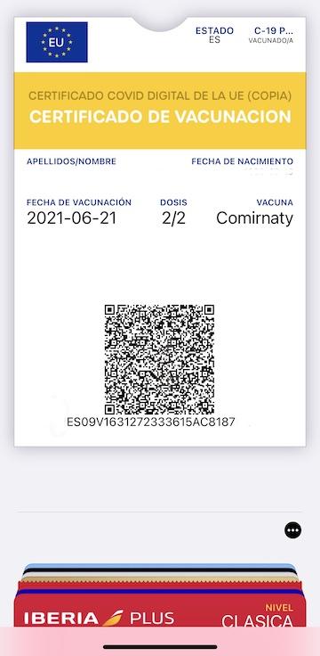 wallet covid certificado