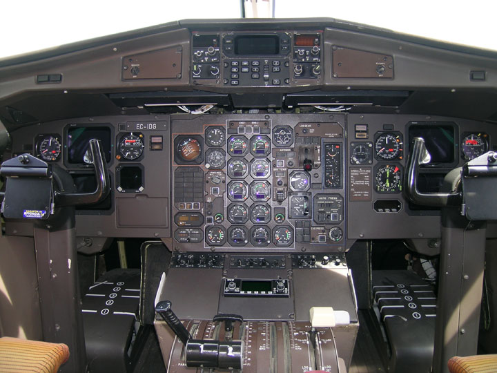 Vista del 'cockpit'.