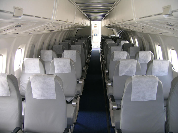 Interior del nuevo ATR-42 300 de Top Fly.