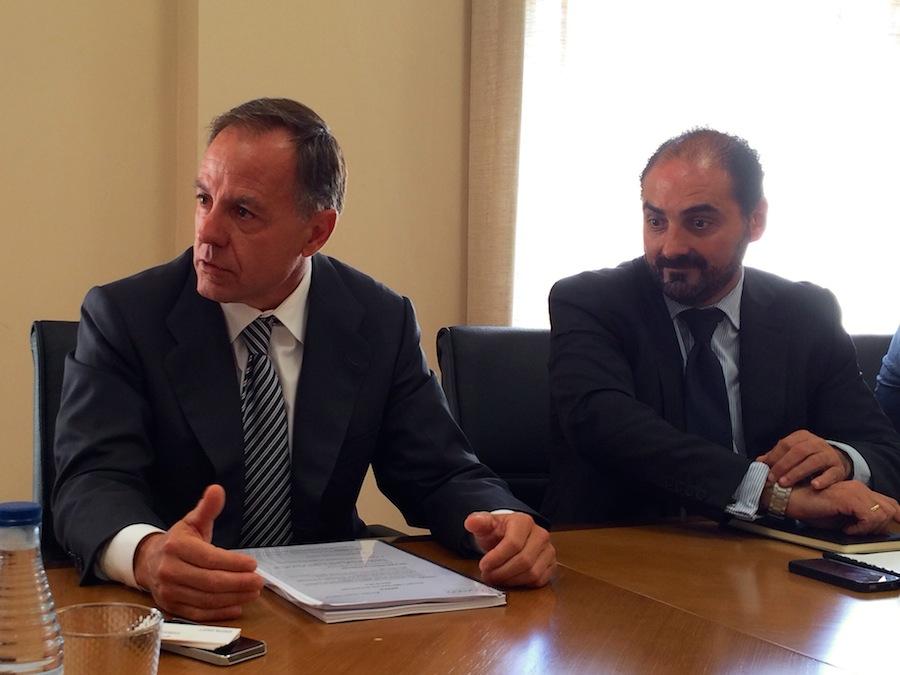 Carlos Carbó y José Ramón Barriocanal en la presentación de la nueva Gestair
