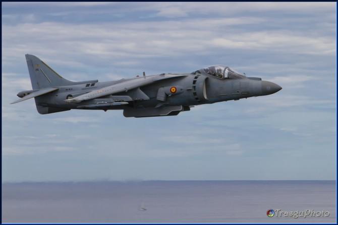 Se pudo disfrutar de la cercania del Harrier (foto TrasguPhoto)