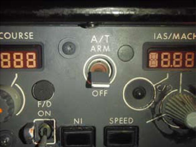 Autothrottle switch